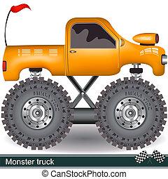 monster truck - Illustration of a vector monster truck image