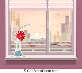 illustration of a view from the window