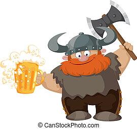 viking and beer