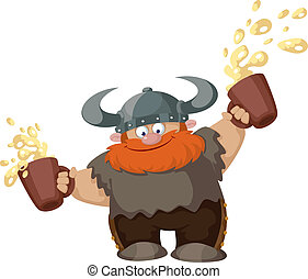 viking with two beer