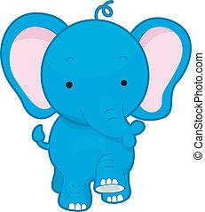 Elephant - Illustration of a Walking Elephant