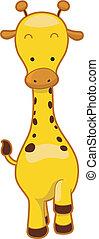 Giraffe - Illustration of a Walking Giraffe