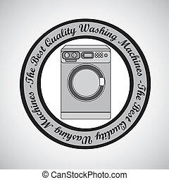 Illustration of a washing machine