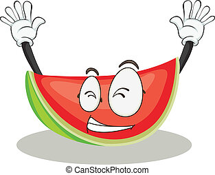 watermelon - illustration of a watermelon on a white...