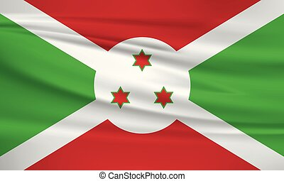 Illustration of a waving flag of the Burundi
