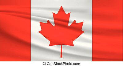Illustration of a waving flag of the Canada