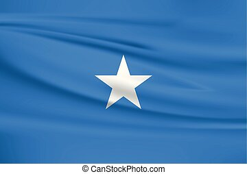 Illustration of a waving flag of the Somalia