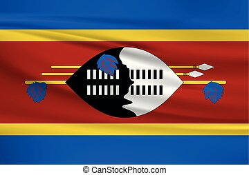 Illustration of a waving flag of the Swaziland
