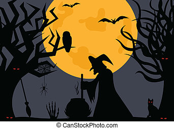 Illustration of a witch