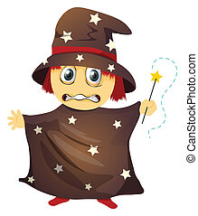 illustration of a wizard on a white background