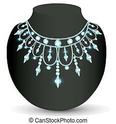 Illustration of a woman's necklace