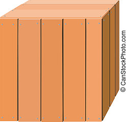 Illustration of a wooden box