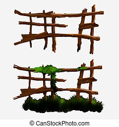 Illustration of a wooden fence.