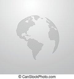 illustration of a world globe map