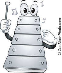 Xylophone Mascot - Illustration of a Xylophone Mascot...