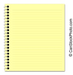yellow notepad  - Illustration of a yellow notepad