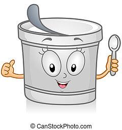 Yogurt - Illustration of a Yogurt Character