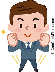 Illustration of a young businessman