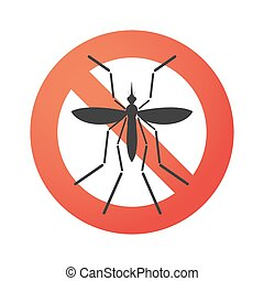 Zika virus bearer mosquito in a forbidden signal -...
