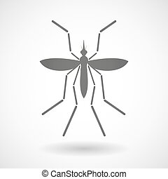Zika virus bearer mosquito on a blank background -...