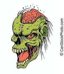 Illustration of a zombie.