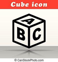 abc cube vector icon design