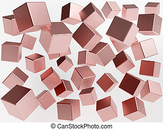Illustration of abstract 3d cubes background