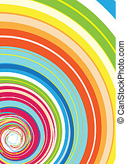 Colorful Rainbow Spiral - illustration of Abstract ...