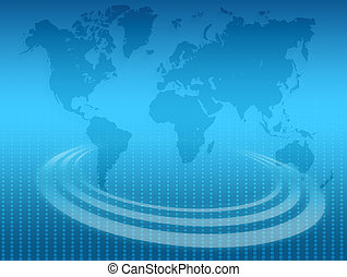 illustration of abstract background with world map.