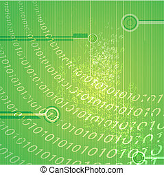 abstract binary background - illustration of abstract binary...