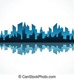 abstract blue building design