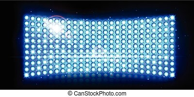 Abstract blue spotlights background