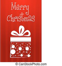 abstract christmas card with gift