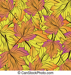 Abstract Fall Leaf Pattern