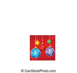 abstract floral christmas card