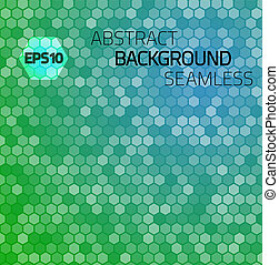 Illustration of Abstract hexagon vector seamless pattern background for websites, user interface and mobile