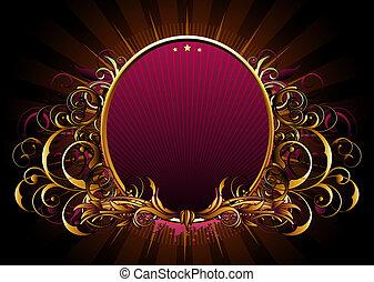 luxury floral frame