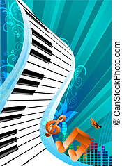 abstract music card