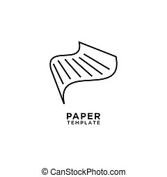 Illustration of abstract paper line art vector