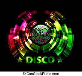 illustration of abstract party Background with disco ball