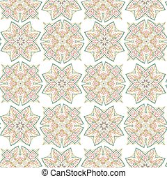 Illustration of abstract seamless pattern with floral design