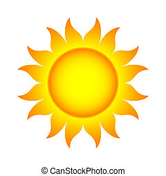 Illustration of Abstract Sun With Flames (.jpg file has clipping path)
