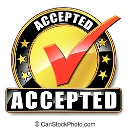 accepted icon on white background