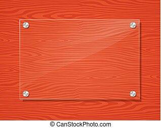 acrylic frame on wood background - Illustration of acrylic ...