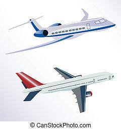 aero plane - illustration of aero plane on white background