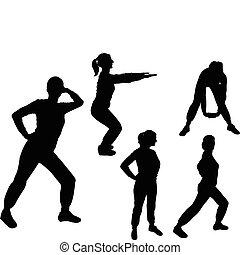 aerobics girl - vector - illustration of aerobics girl -...