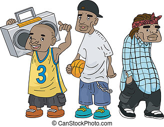 African-American Teens - Illustration of African-American ...