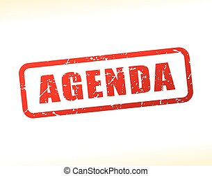 agenda text buffered