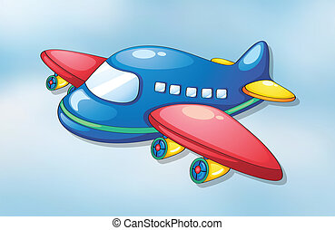 air plane - illustration of air plane flying in the sky