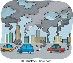 Air Pollution - Illustration of Air Pollution